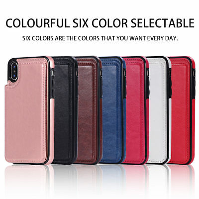 Dooqi Leather Wallet Case Card Slot Flip Cover For Apple iPhone X / XS