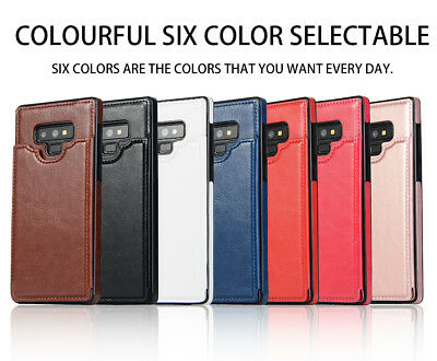 Dooqi Leather Wallet Case Card Slot Flip Cover For Samsung Galaxy Note 9