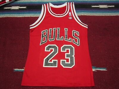 VTG 90s Champion NBA Chicago Bulls  23 Michael Jordan Jersey Shirt Red 36   9a201d571