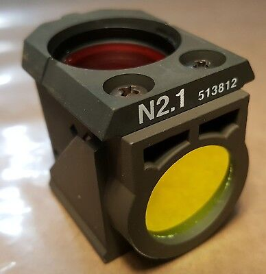 Leica N2.1 Fluorescence Filter Cube 513812 11513812 from DM RBE Confocal