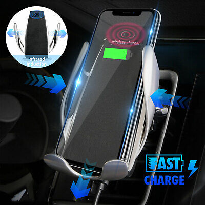 Automatic Clamping Wireless Car Charger Mount For iPhone X 8 Samsung S9 S8 Plus