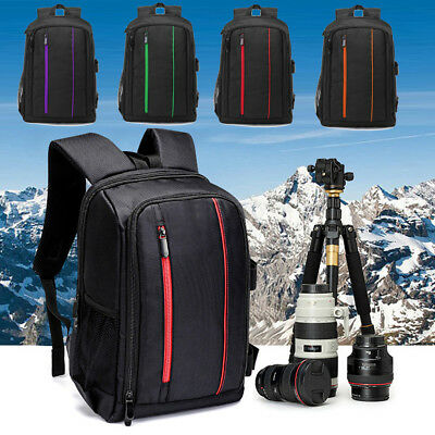 Large DSLR Camera Backpack Waterproof For Canon Laptop Lens Case Shoulder Bag 1