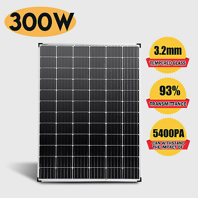12V 300W Solar Panel Monocrystalline with Anderson Plug MC4 Connector