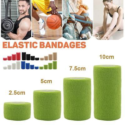 Cohesive Sports Self-Adhesive Athletic Support Bandage Strap Tape Tool 10X450cm