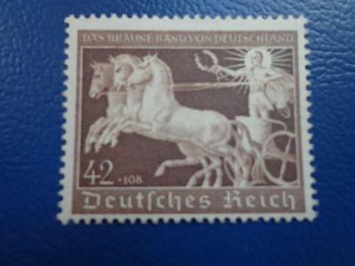 WWII Third Reich 1940 Braunes Band / Horses Race Mi 747 MNH Luxe