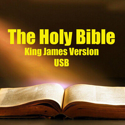 KING JAMES VERSION Bible Complete Old & New Testaments, MP3 AudioBook, on USB
