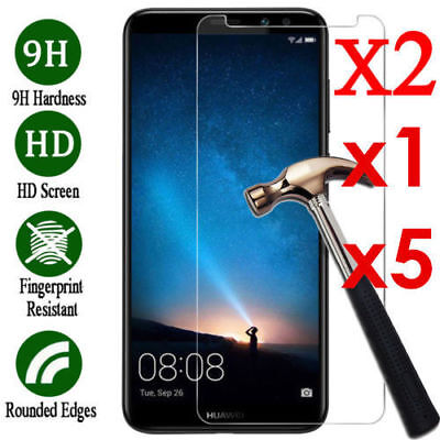 5 Pcs 9H Tempered Glass Screen Protector Film For Huawei Mate 20 8 9 10 lite Pro