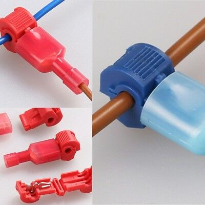 25Pcs Red Quick Lock/Snap On Splice Crimp Wire Electrical Cable Connectors Professionele uitruisting
