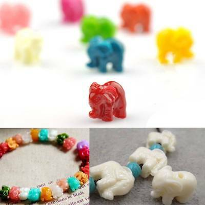 10 pc  Elephant Animal Spacer Beads Stopper Necklace Bracelet Making Beads Craft