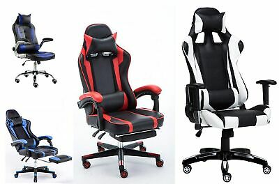 Executive Racing Style Gaming Computer Office Chair Adjustable Swivel Recliner