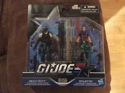 GI Joe 50th Anniversary Heavy Conflict STILETTO HEAVY DUTY 2-pack Army Builder