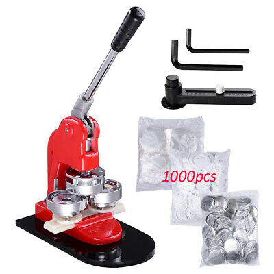 """58mm 2.28"""" Button Maker Machine + 1000 Buttons Handle Making Kit Comfortable"""
