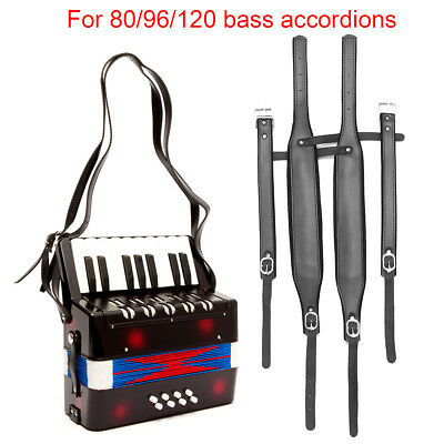 4Pcs/set Adjustable Leather Accordion Shoulder Straps for 80 96 120 Bass AU