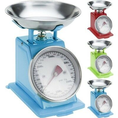 Retro Style Mechanical Kitchen Cooking Weighing Scales Stainless Steel Bowl