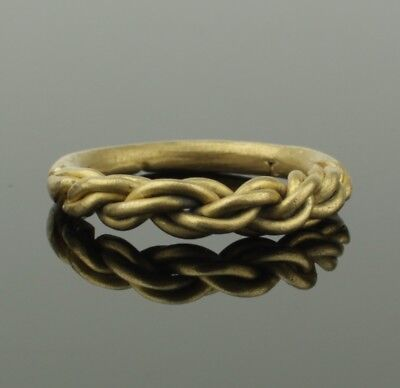 ANCIENT VIKING HEAVY BRAIDED GOLD RING - CIRCA 9th/10th CENTURY 022