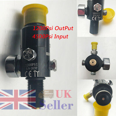 5/8-18UNF Inlet Thread Paintball High Compressed Air Tank Valve Output 1200Psi