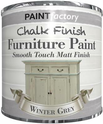 Paint Factory Chalk Chalky Furniture Paint 250ml Winter Grey