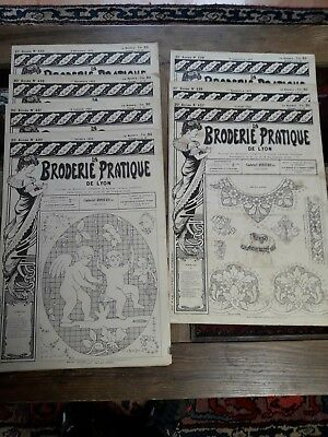 7Nos ANCIENS JOURNAUX LA BRODERIE PRATIQUE DE LYON 1922 OLD EMBROIDERY PATTERNS