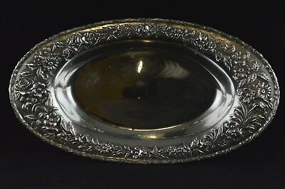 S Kirk & Son Repousse Sterling Silver Bread Tray #60 - No Monograms