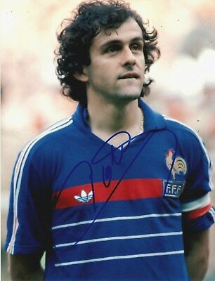 MICHEL PLATINI Signed 10x8 Photo FRANCE JUVENTUS AFTAL OnlineCOA
