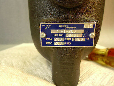 "New Spirax Sarco Ft-200 1"" Float And Thermostatic Steam Trap #58481"
