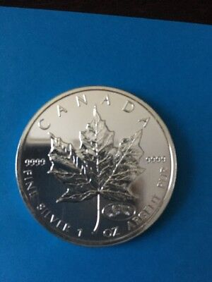 1999-2000 New Millennium Canada 1 oz Silver Maple Leaf Firework Privy OGP BINo
