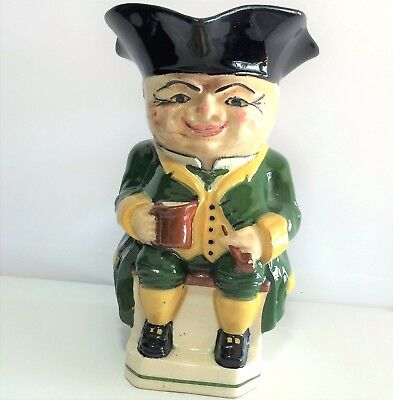 Vintage Hand Painted Toby Style Mug Hand Painted Detailed Face 6.5 Inches 119m