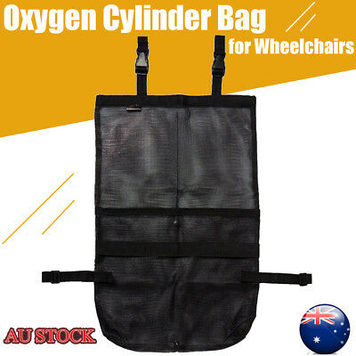 AdirMed Double Oxygen Cylinder Bag for Wheelchairs D & E Cylinders Durable Nylon