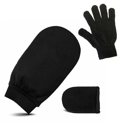 Smittens Mitts - Exfoliation And Sunless, Spray Tan Application Mitt Set