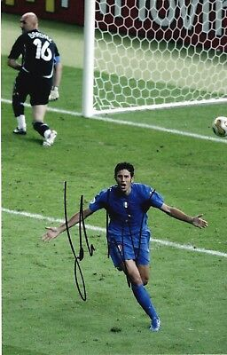 FABIO GROSSO Signed 12x8 Photo ITALY WORLD CUP FINAL 2006 AFTAL OnlineCOA