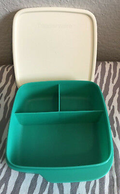 Tupperware Lunch-It® Container Portion Divided Dish Airtight Seal Teal New