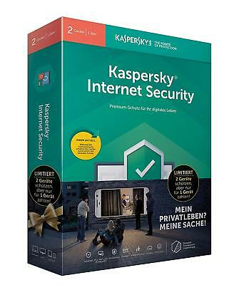 Kaspersky Lab Internet Security 2019, 2 PCs für 1Jahr Win/Mac/Android, Antivirus