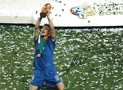 Francesco Totti Signed 16x12 Photo ITALY WORLD CUP FINAL 2006 AFTAL OnlineCOA