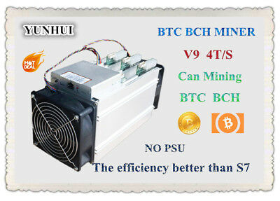 AntMiner V9 4T 4th/s Bitcoin Miner Asic Miner Btc Miner Bitcoin Better than S9