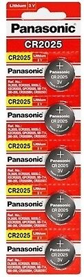 100 x Fresh PANASONIC CR 2025 CR2025 ECR2025 LITHIUM COIN CELL Battery Exp 2028
