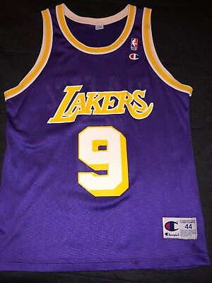VINTAGE JERRY WEST Los Angeles Lakers NBA Champion Jersey Gold Logo ... cdad58e66