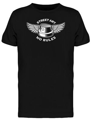 Spray Cap With Wings Street Art Men's Tee -Image by Shutterstock