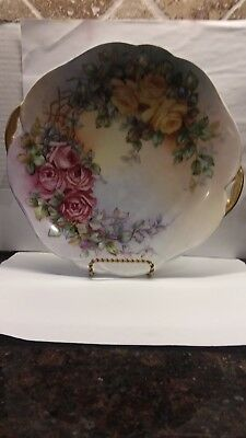 Silesia Hand Painted Collectible Plate-beautiful Colors Antiques