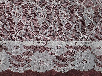 Vintage Alencon Net Lace Floral Lace Tablecloth-Perfect for Holiday Entertaining