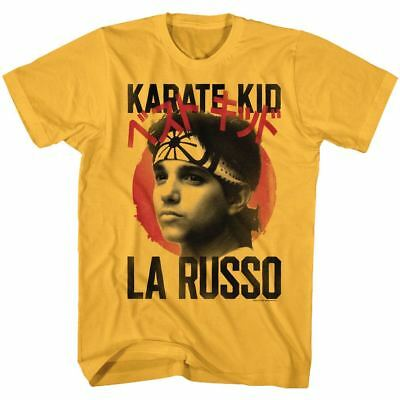 16adc3c67 The Karate Kid T-Shirt Daniel LaRusso Movie Mens Mr Miyagi Ginger Sizes SM -