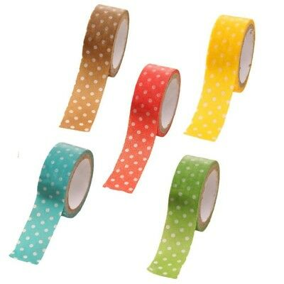 5 x Colors candy adhesive tap Decorative stripe peas for DIY craft decorat Z6Y5)
