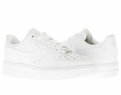 Details about Boys Girls Nike AIR FORCE 1 GS 314192 117 White Leather Trainers Shoes