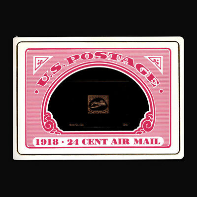 US, Sc #C3a, 1918, Inverted Jenny, Calhoun Collector's Society, 23 K Proof 12IDD