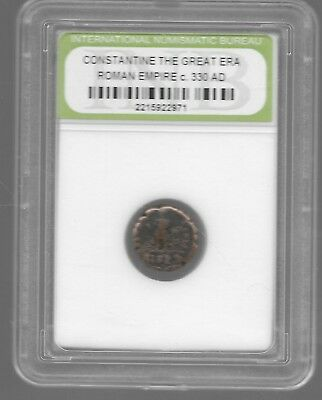Rare Old Ancient CONSTANTINE GREAT Roman Empire Era War Collection Coin LOT:116