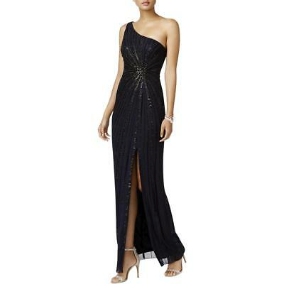 330945916b8 Adrianna Papell Womens Navy One Shoulder Evening Dress Gown 12 BHFO 5407