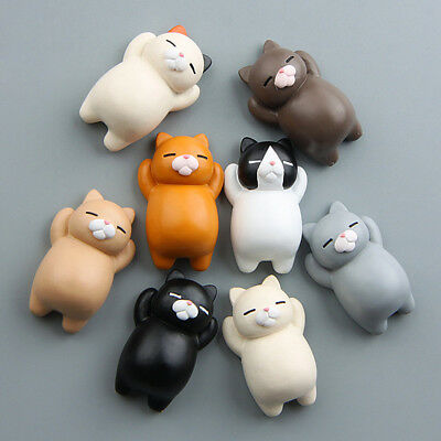Creative Cartoon 3D Lazy Cat Fridge Magnet Sticker Refrigerator Home Decor