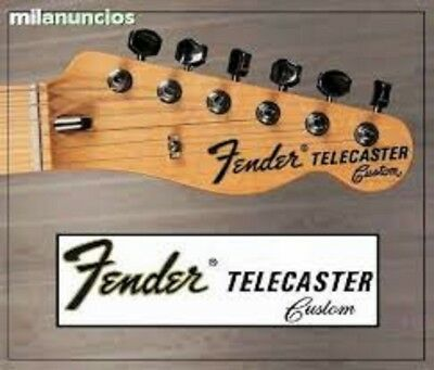 "Fender Telecaster ""Custom"" Waterslide Head Stock Decal"