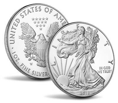 FIVE (5) 2018 American Eagle Silver Dollars Brilliant Uncirculated FREE SHIPPING