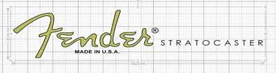 Fender Stratocaster Waterslide Head Stock Decal