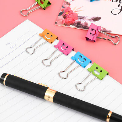 NUOLUX 40pcs Smile Face Design File Clip Metal Binder Clips Paper Clips for Home